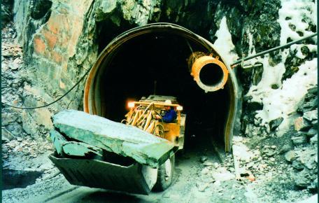 Beginn Untertageabbau Grube Altlay ca. 1995