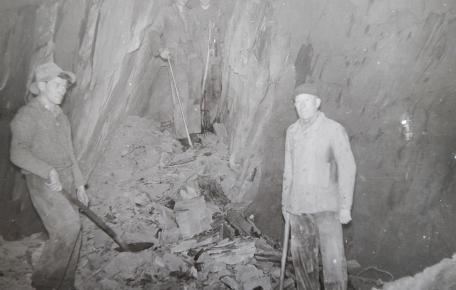 Grube Frühberg untertage ca. 1950