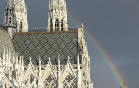 Spitzwinkel Assulo Schiefer und Monte Color Schilfgrün 6000 m² Dom Wien